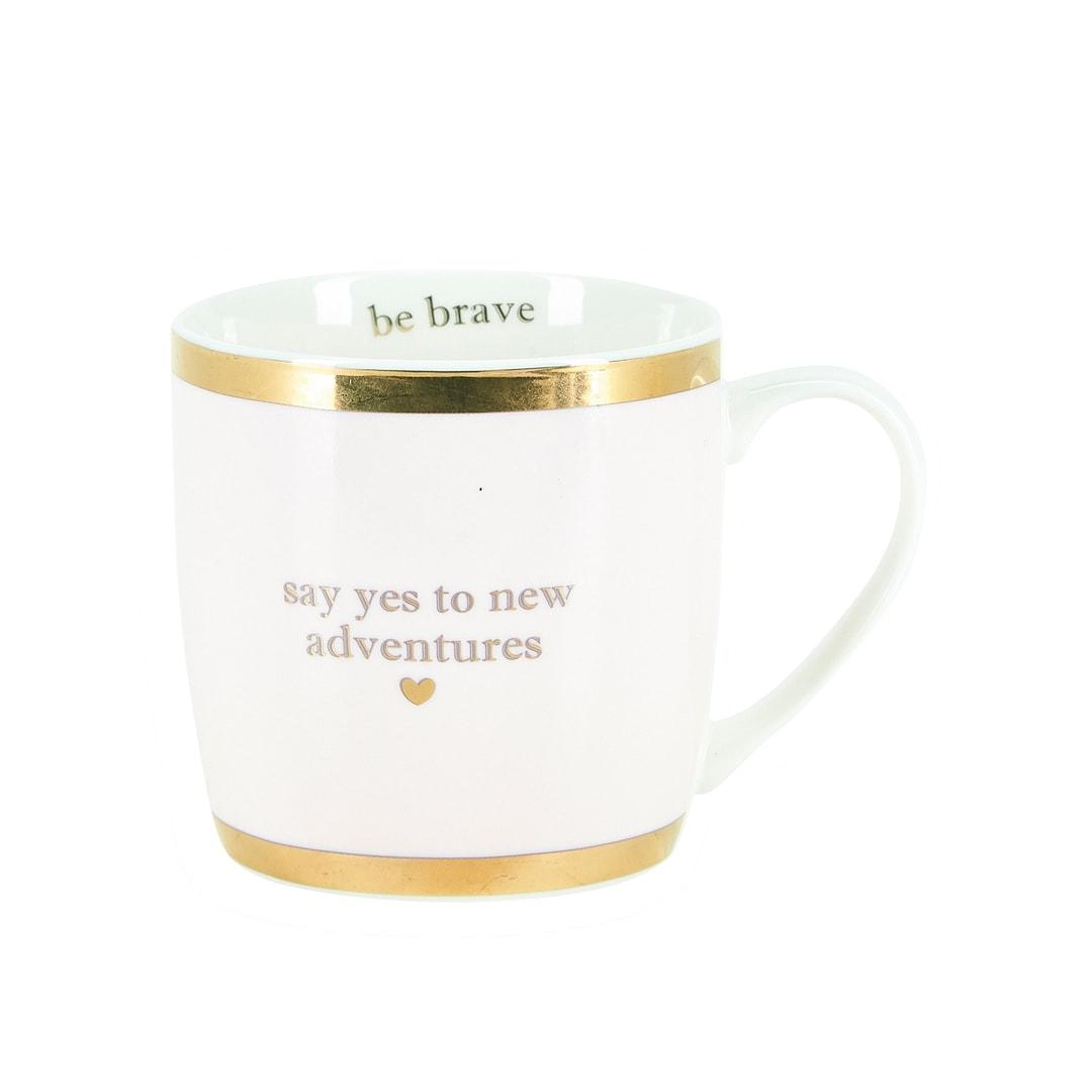 Miss Étoile Tasse Say Yes to new Adventures weiß