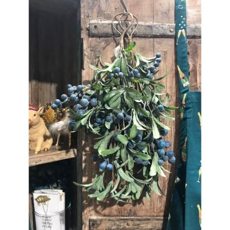 Weihnachtszweig Beeren blau